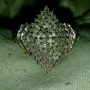 Genuine diamond ring