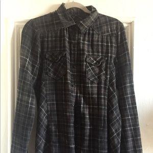 Longer Flannel Button down