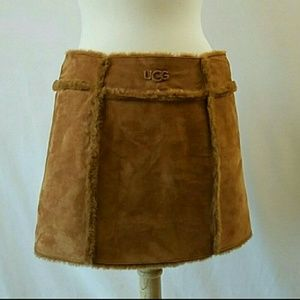 Authentic *UGG Genuine Leather Mini Skirt