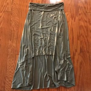 🍁Nordstrom Army Green High Low Skirt🍁