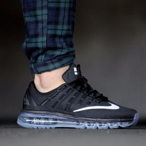 NIKE AIR MAX 2016 MENS BLACK/WHITE-DARK GREY
