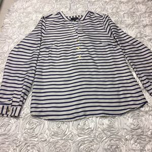 Beautiful blue and white striped top The Limited