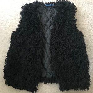 Vera Wang Fuzzy Vest!