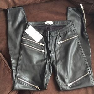 NWT Women's faux leather pants