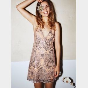 Free People Night Shimmers Party Sequin Mini Dress