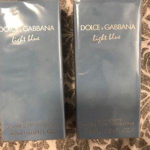 Set of 2 Dolce Gabanna light blue perfumes new