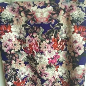 Talbot's floral multi color skirt