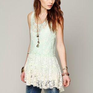 Free People Dip Dye Lace Dress