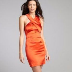 Vera Wang LL Burnt Orange Stretch Dress - 6 - NWT