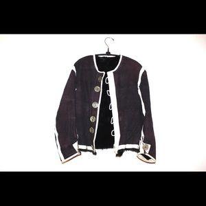 Bavarian Mystery garment handmade fur lined shirt