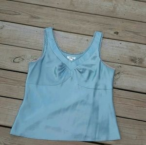 Light blue Cato tank/shell, size large