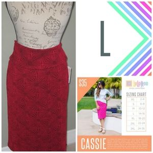 LuLaRoe Cassie Skirt - L - Brand New With Tags!