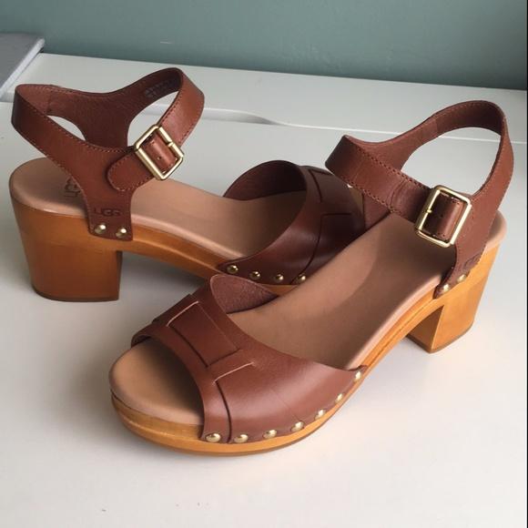 60ddf69c18e Womens Janie Rust Leather/Stud Clog Sandal
