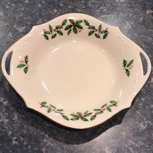 Lenox China small serving/hors d' oeuvre dish.