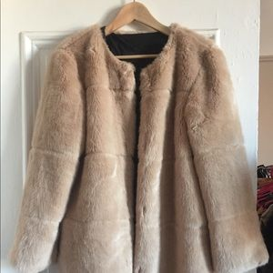 Faux Fur beige coat