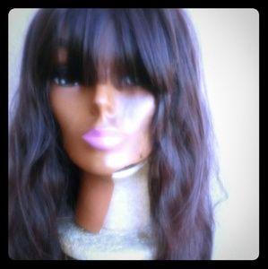 Long Brown wig w bangs! New