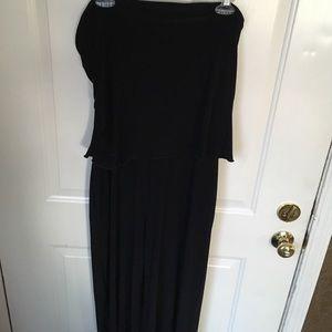 WM BM black pull up jumpsuit size large strapless
