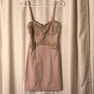 Free People Bodycon Dress with Beading