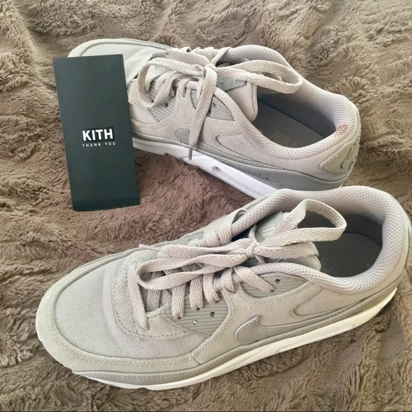 Kith Grey Suede Linen Nike Air Max 9