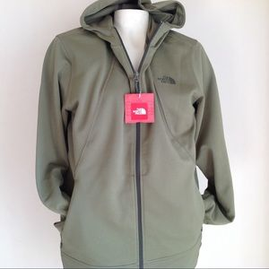 New The North Face Mens green sweater hoodie