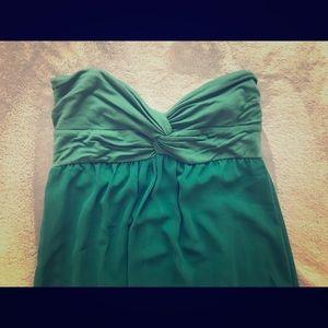 Midi emerald green dress