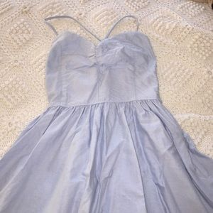AMERICAN APPAREL light blue lace up dress
