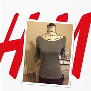 H&M Tie Sleeve Top - SP