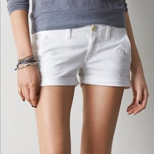 AEO White Shorts
