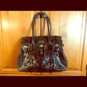 ♻️ Badgley Mischka Leather Distressed Handbag