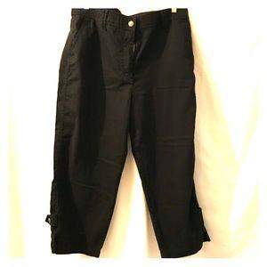 Chico black Capri pants size 2.5