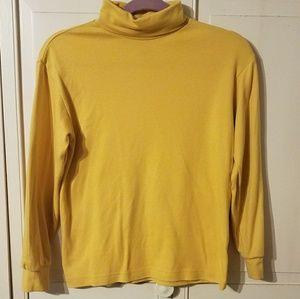Mustard yellow turtle neck top
