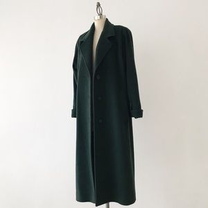 VINTAGE | 80s Hunter Green Wool Coat