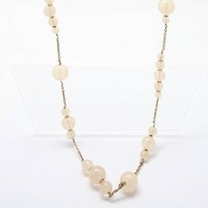 J. Crew Goldtone Chunky Round Pink Long Necklace