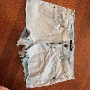 Light blue forever 21 shorts