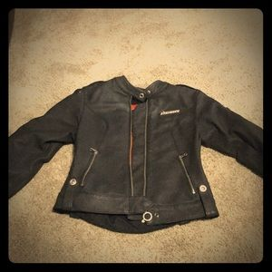 Icon leather women's motorcycle jacket size small