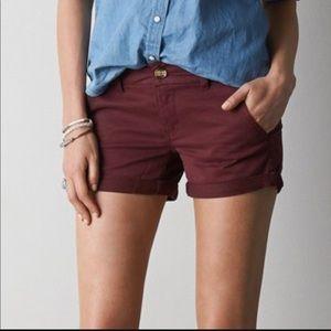 AEO Maroon Shorts