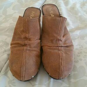 Vintage MIA Clogs, Mules, Suede, Size 10