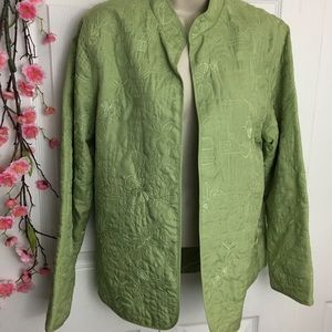 Alfred Dunner Seagreen Embroidered Jacket 🧥