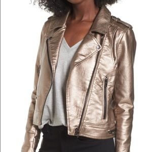 BLANKNYC metallic jacket silver