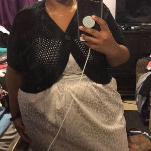 Black chrochet shrug