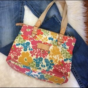 Relic Colorful Floral Tote Purse