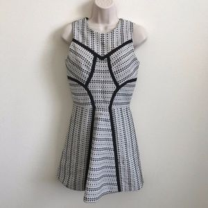 ALEXIS Small A Line Cocktail Dress Black White
