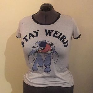 Stay Weird Stitch Tee