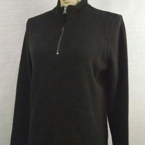 Basic Edition Black 1/4 Zip Pullover