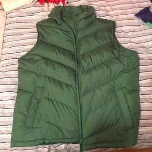 Land's End medium green women's vest