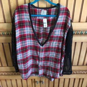 NWT LF Furst Of a Kind flannel mesh