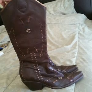 BCBGirls Tall Western Boots, Gently Worn Size 11