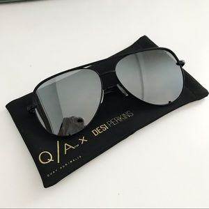 Quay Australia High Key Sunglasses - Black/Silver