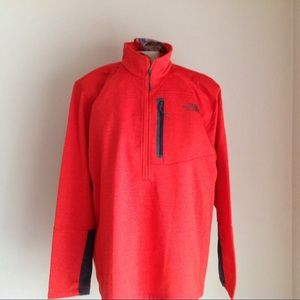 New The North Face Mens orange sweater NWT