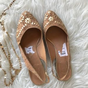 🌟🌟🌟Jack Rogers Gold and Cork size 8🌟🌟🌟🌟🌟